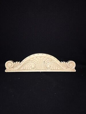 "1920's 15 1/4"" Carved Wood Pediment"