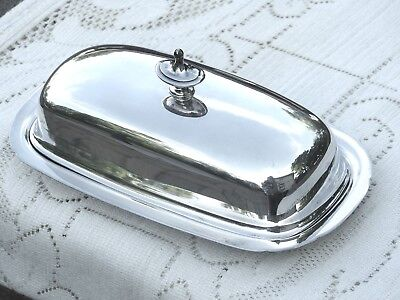 Vintage Reed & Barton Silverplate Butter Dish #5007 - no glass liner