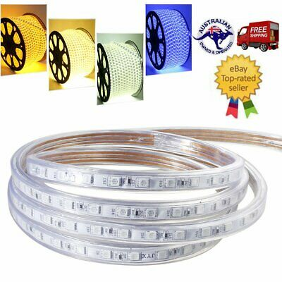 220V-240V SMD 5050 LED Strip Lights RGB Flexible tape Light Waterproof + AU Plug