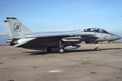 Usn F-14A 161852 Vf-41 Original Color Slide Kodachrome