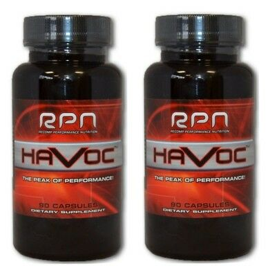 RPN Havoc 2 Bottle Combo -FREE Shipping- Recomp Performance Nutrition Havoc x2