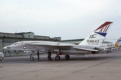 Usn Ra-5C 156643 Rvah-12 Original Color Slide Kodachrome