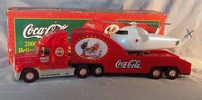 Coke Coca-Cola 2000 Holiday Helicopter Carrier With a '62 Replica Helicopter