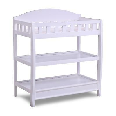Delta Children Infant Changing Table with Pad, White New!