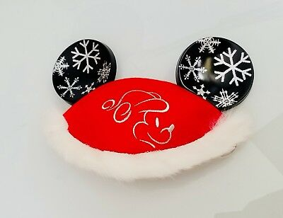 Disney Parks Santa Christmas Red Mickey Ear Hat - Youth RETIRED