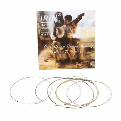 5pcs/set BJ12 Banjo Strings Stainless Steel Coated Copper Alloy Wound .009-.020