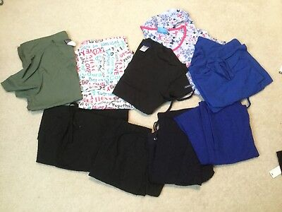 Lot Of 5 Pairs Of Scrubs Size Xxs-small
