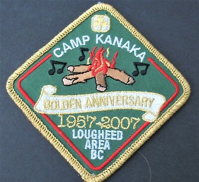 Girl Guides Canada  B.c. Camp Kanaka Lougheed Patch 1957-2007 Golden Anniversary