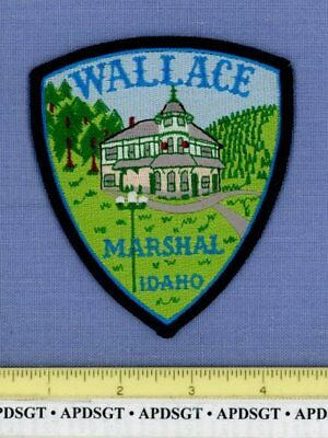 WALLACE MARSHAL IDAHO Sheriff Police Patch RAILROAD TRAIN STATION DEPOT