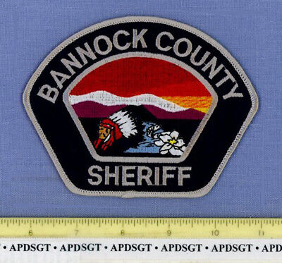 BANNOCK COUNTY SHERIFF IDAHO ID Police Patch INDIAN NATIVE AMERICAN SUNSET