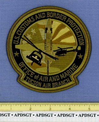 USCS TUCSON AIR & MARINE ARIZONA Federal Police Patch HELICOPTER SUBDUED