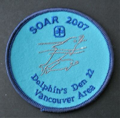 Girl Guides Canada  Soar 2007 B.c. Vancouver Area Dolphin Adge Patch Brownies