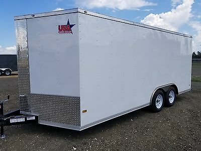 8.5x16 8.5 x 16 Enclosed Trailer Cargo Car Hauler V 7 Motorcycle 14 Utility Call