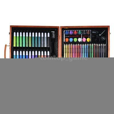 148Pcs Deluxe Art Set Drawing&Painting w/ Case & Accessories Christmas Gift K0J9