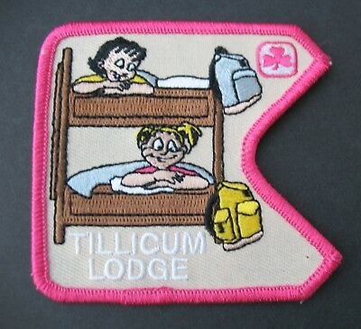 Girl Guides Canada  B.c. Tillicum Lodge Patch Badge Brownies British Columbia