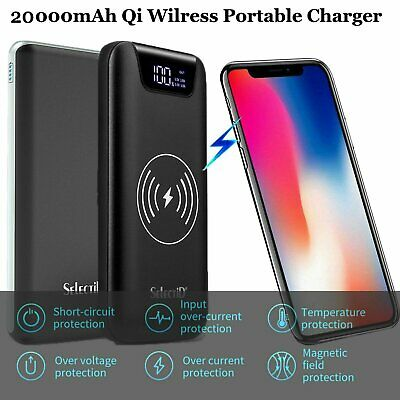 20000 / 50000 / 100000mAh LCD Wireless QC 3.0 Quick Battery Charger Power Bank