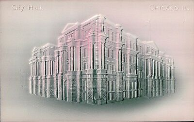 airbrushed embossed City Hall Chicago ILL undivided back