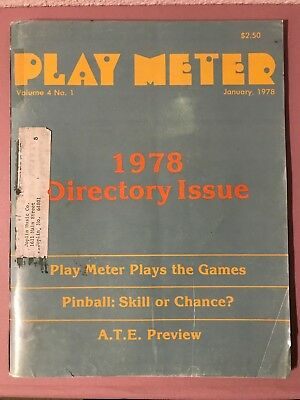 Play Meter Magazine Jan 1978 Directory Issue