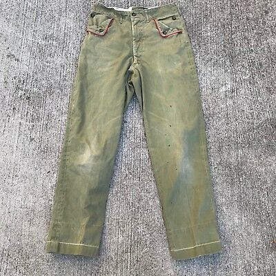 Vintage boy scout 1960s Cotton uniform Pants 27 X 28