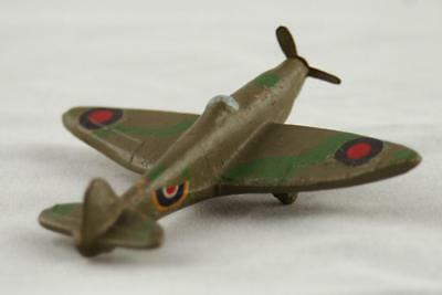 Old Vintage WW2 RAF MILITARY AIRPLANE TOY MODEL - Diecast, handmade, Spitfire
