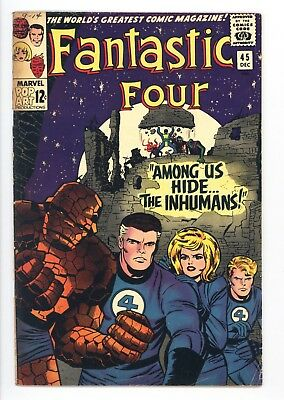 Fantastic Four #45 Vol 1 Beautiful High Grade 1st Appearance of the Inhumans
