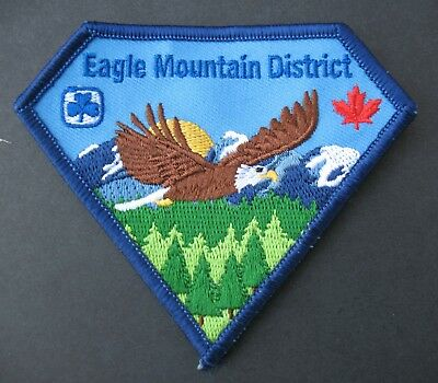 Girl Guides Canada  Eagle Mountain Dist. B.c. Embroidered Patch Brownies Scouts