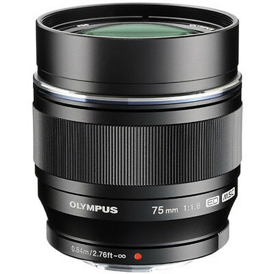 Olympus 75mm F1.8  Black Micro Four Thirds Lens