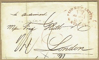 New South Wales 1841 cover per Andromache Sydney to London