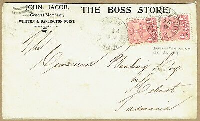 New South Wales 1907 The Boss Store advertising Tatts cover