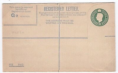 W181 1940s GB MILITARY FORCES GVI Unused Registered Postal Stationery FRP3a