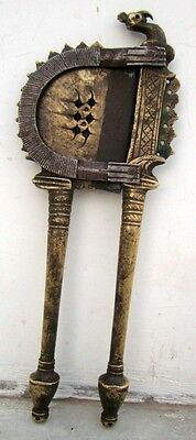 1800's Antique Old Very Rare Brass Hand Engraved Mughal Betel Nut Cutter Sarota