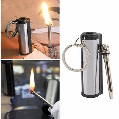 High quality Permanent Match Striker Torch Lighter with Key Chain Silver Metal