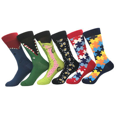 Men Combed Cotton Socks Animal Fruit Novelty Funny Casual Sock SOX Party Gift