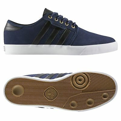 ADIDAS ORIGINALS MEN'S SEELEY SKATE TRAINERS BLUE