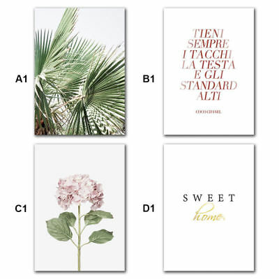 Nordic Poster Tropical Plant Unframed Printing Hanging Painting Wall Art Canvas