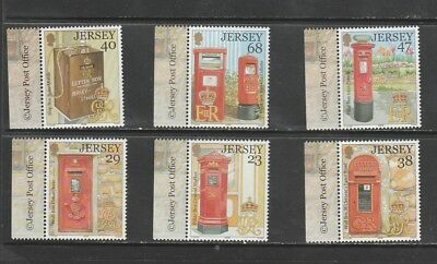Jersey  Commemorative Set, 2002 Postboxes Issue, Mnh