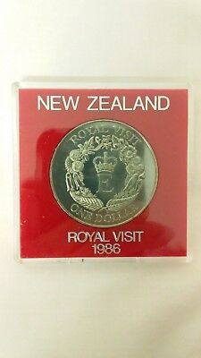 New Zealand 1986 One Dollar Uncirculated Coin -  Royal Visit