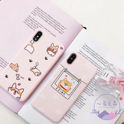 Cute Pink Corgi Protective Phone Case Cover for iPhone X XSMax XR 6 6S 7 8 Plus