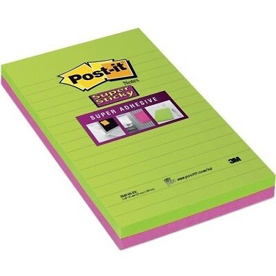 3M Post-it Super Sticky Notes Ultra, 2x 45er Block, Haftnotizen, grün pink