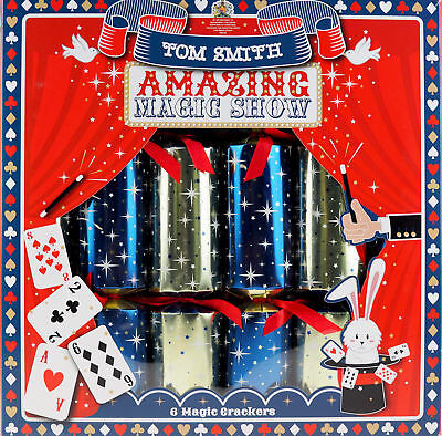8 x Amazing Magic Trick Show Christmas Crackers - Tom Smith