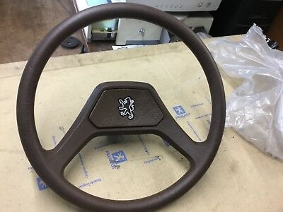 GENUINE PEUGEOT 305 mk1 STEERING WHEEL Brown  410738 410762