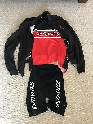 Specialized Cycle Clothing Complete Set - Jacket, Jersey & Padded Shorts