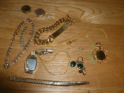 gold recovery items  .18ct/14ct  plated etc some to wear resell job lot