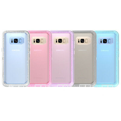 NEW Transparent Defender Case Rugged Protective Cover For Samsung Galaxy S7 S8 S
