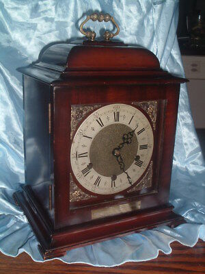 Vintage ENGLISH Westminster Chime GEORGIAN STYLE Bracket Clock
