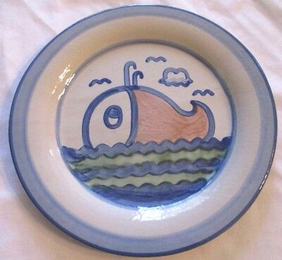 M. A. HADLEY Whale Fish Low Tide Ceramic Plate 12.5""