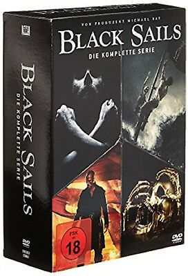 Black Sails Box Die komplette Serie Staffel 1-4 (1+2+3+4) NEU OVP 15 DVDs