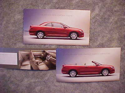 2008 Chrysler Sebring Hardtop Convertible Introductory Color Folder NEW