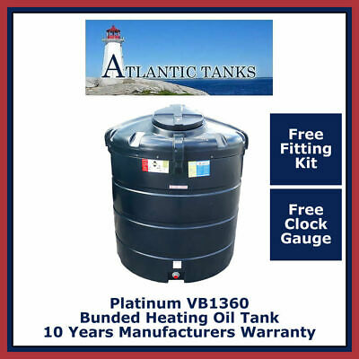 1360ltrs Vertical Platinum Bunded Domestic Heating Oil Storage Tank