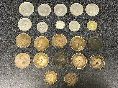 collection Of Old British Coins. Job Lot.